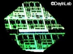 Transistor irradiado con protones