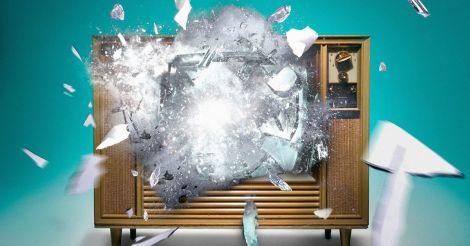 Television-exploding-digital-composition
